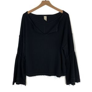 Free People We The Free Waffle Knit Thermal Top